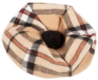 Lambswool Scottish Tammy Hat In Thomson Camel Tartan Design