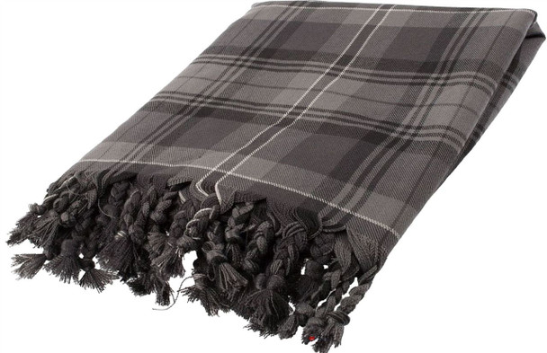 Deluxe Fly Plaid to complete Ceremonial  Dress in Hamilton Grey Tartan