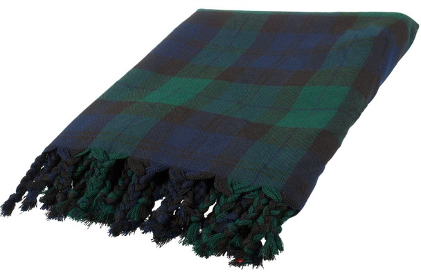 Deluxe Fly Plaid to complete Ceremonial  Dress in Black Watch Tartan
