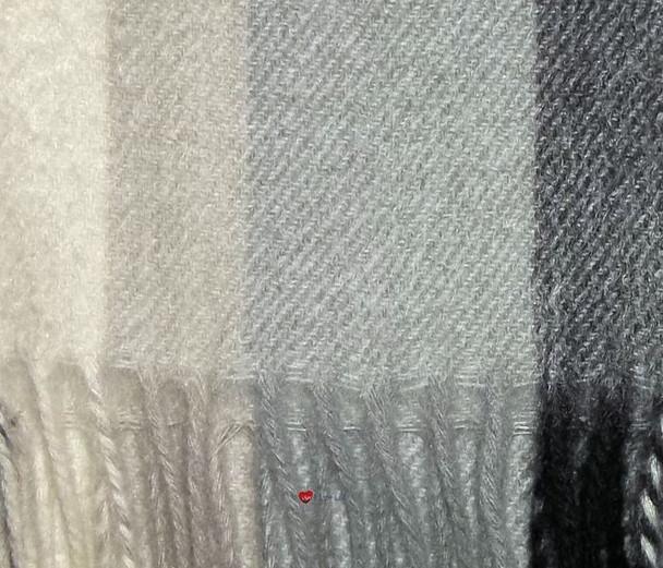 100% Cashmere Scarf in Grey Multistripe