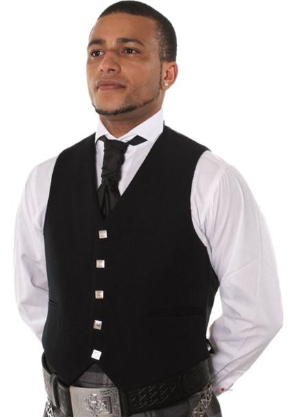 Gents 5 button Black Prince Charlie / Argyll Waistcoat