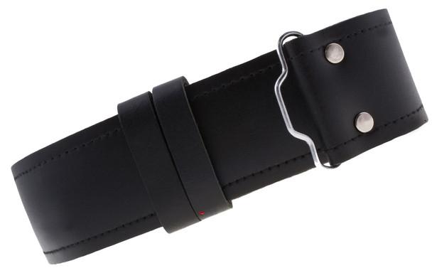 Mens Gents Kilt Belt Smooth Black Leather Highland Adjustable  X-Large