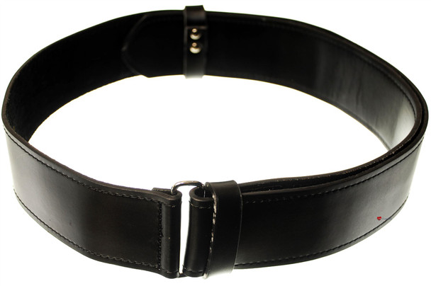 Gents Black Smooth Scottish Kilt Belt In X-Large