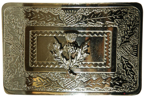 Boys Kilt Raised Thistle Belt Buckle