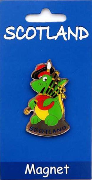 Scottish Fridge Magnet Scottish Nessie Loch Ness Monster on a Fridge Magnet