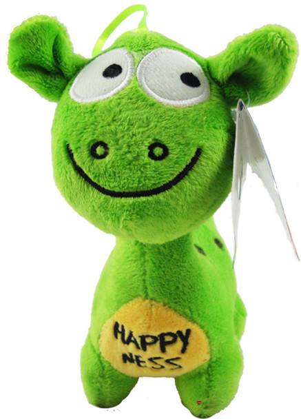 6.5 Inch Greeen Happy Nessie Childrens Cute Green Soft Toy Happy Ness