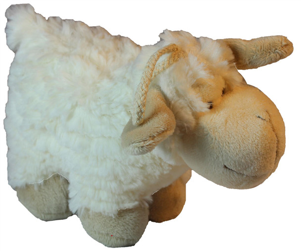 Cute Fluffy White Standing Sheep Soft Toy for Children Adorable Sheep Toy