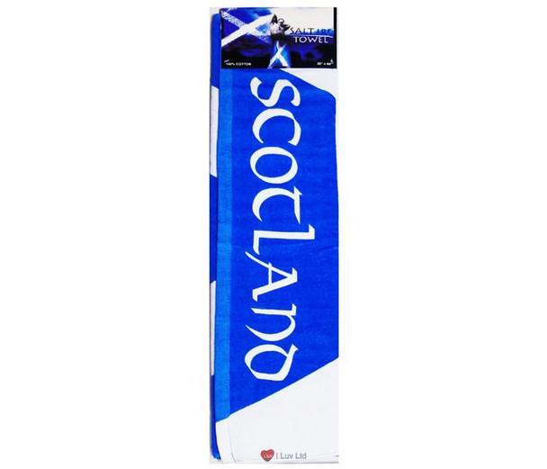 Large Beach Towel Scottish Flag Blue and White Saltire