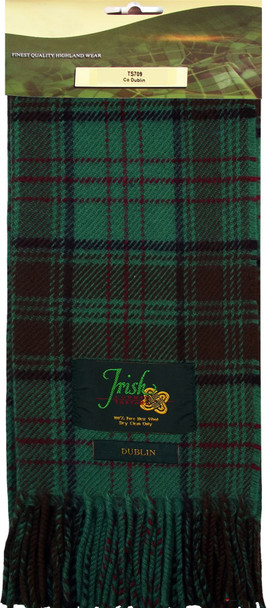100% Lambswool Scarf in Irish County Dublin Tartan