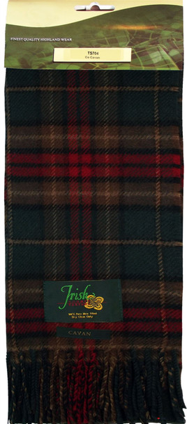 100% Lambswool Scarf in Irish County Caven Tartan