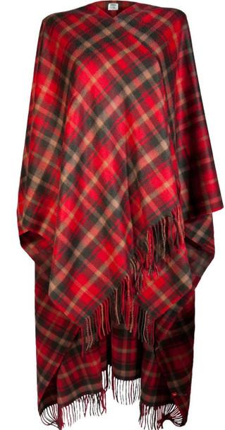 Ladies Luxurious Cashmere Cape in Dark Maple