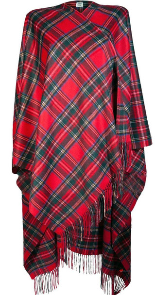 Ladies Luxurious Cashmere Cape in Royal Stewart Tartan