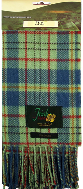 100% Lambswool Scarf in Irish County Kildare Tartan