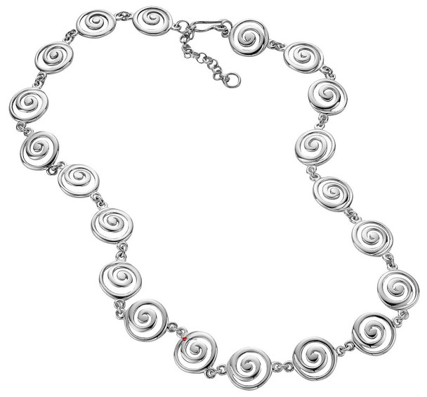 Necklace Crafted In Sterling Silver with Celtic Spiral Design Links