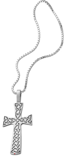 Pendant Cross Hallmarked Sterling Silver with Celtic Interlace 26mm