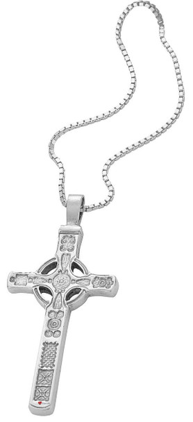 Pendant Cross Hallmarked Sterling Silver Based On Iona St John 30mm