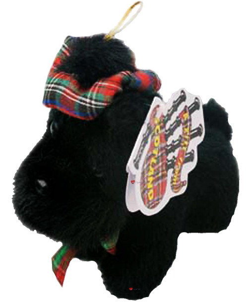 Adorable Small Fluffy Little Black Scottie Dog Scottish Terrier Toy