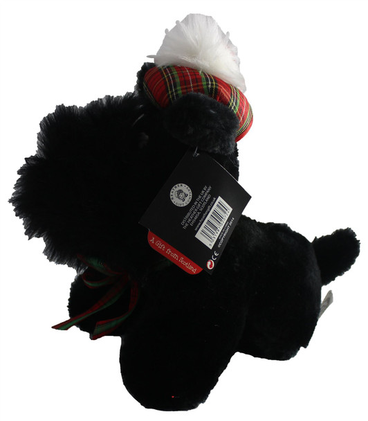 Adorable Large Fluffy Cute Black Scottie Dog Scottish Terrier Toy