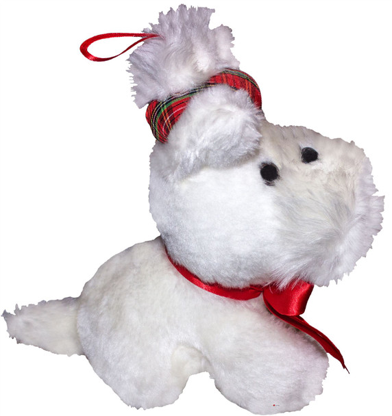 Adorable Large Fluffy Cute White Scottie Dog Scottish Terrier Toy