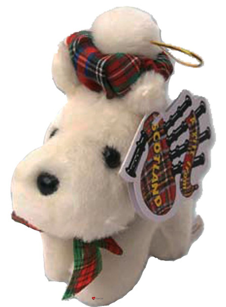 Adorable Small Fluffy Little White Scottie Dog Scottish Terrier Toy