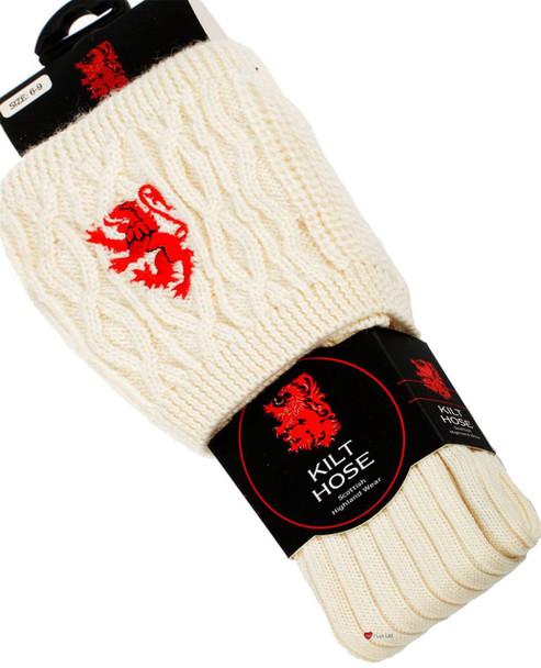 Kilt Hose Socks Off White
