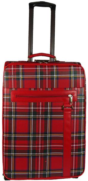 Large Luggage Bag with Wheels in Stewart Royal Tartan