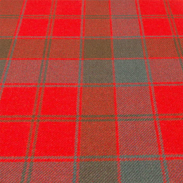 Heavy Weight 16oz Fabric Material Robertson Red Weathered Tartan 1 Metre