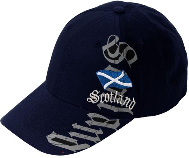 Baseball Cap Scotland Vertical Navy With Adjustable strap