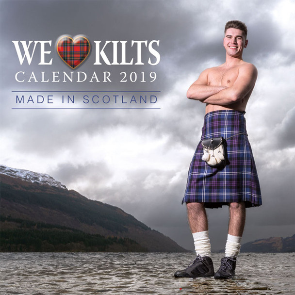 We Love Kilts Calander Made in Scotland