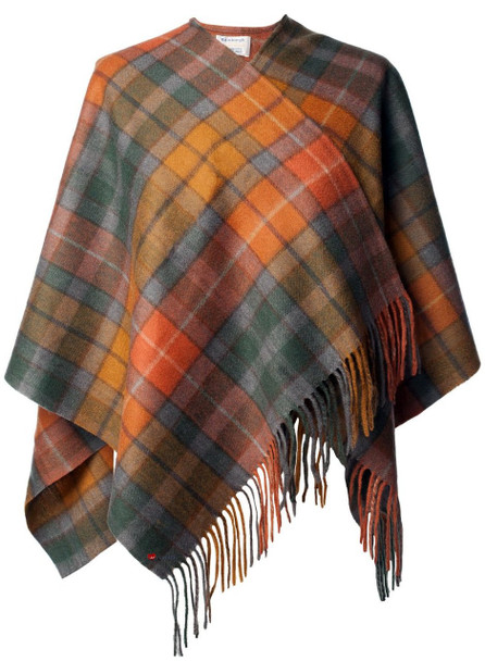 Mini Lambwool Cape Soft and Silky with Buchanan Antique Tartan Design