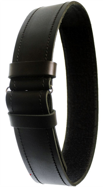 Gents Plain Leather Belt Black