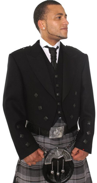 Gents Prince Charlie Jacket with Black 5 Buttons 100% Wool