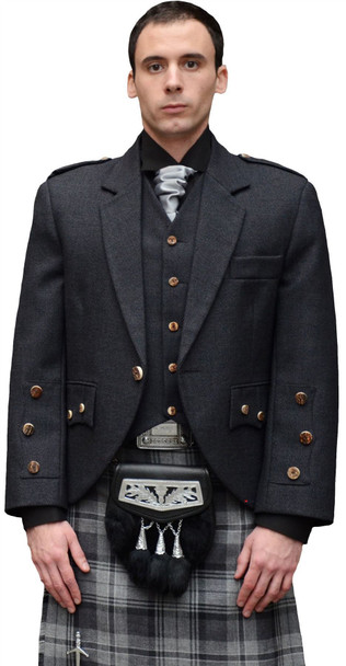 Araca Fashion Tweed Jacket With 5 Button Waistcoat