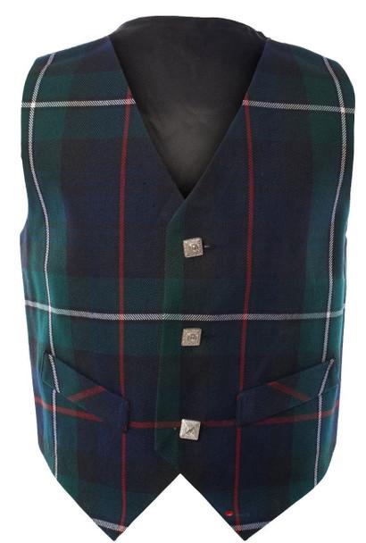 Boys Waistcoat Silk Back Adjustable Buckle MacKenzie Tartan