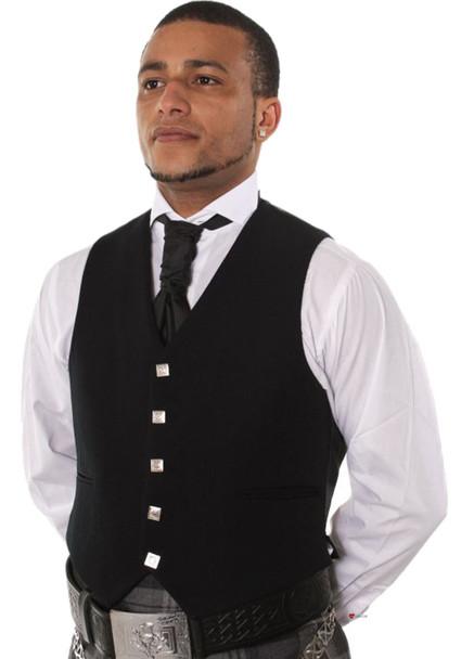 Men's 5 button Waistcoat Black