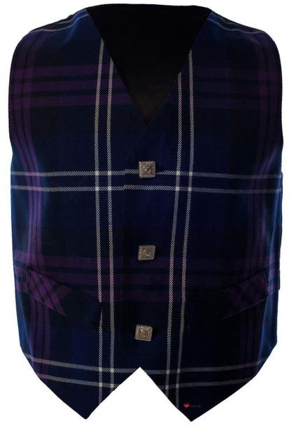 Boys Waistcoat Silk Back Adjustable Buckle Heritage of Scotland Tartan