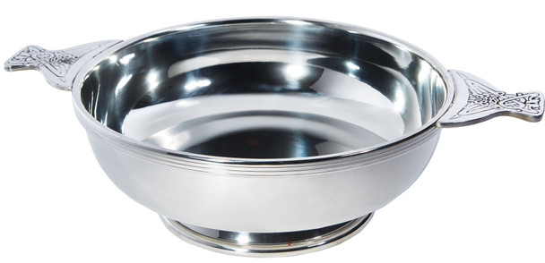 """Quaich Scottish Pewter 250mm 10""""  Tasting Bowl Ideal Trophy Gift Engravable"""