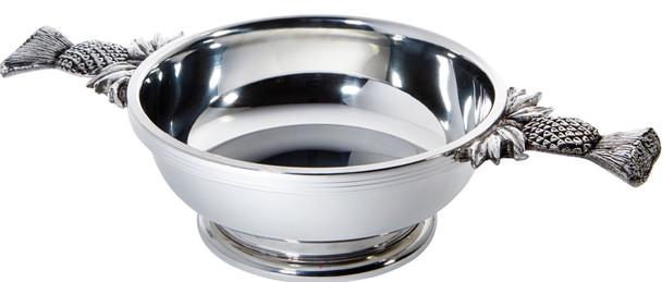 Scottish Quaich Large Thistle Shaped Handle Tasting Bowl Ideal Christening Gift Engravable