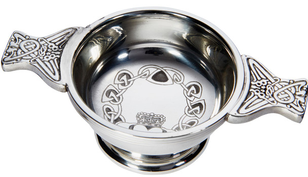 Ideal Gift Irish Claddagh Quaich Small Cup Of Friendship 70mm Ideal Gift Engravable