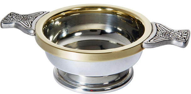 Scottish Quaich Brass Rim Standard Size Tasting Bowl Ideal Christening Gift Engravable
