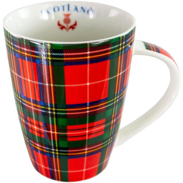 Royal Stewart Large Mug Microwave Dishwasher Safe Scotland Thistle Logo Inside