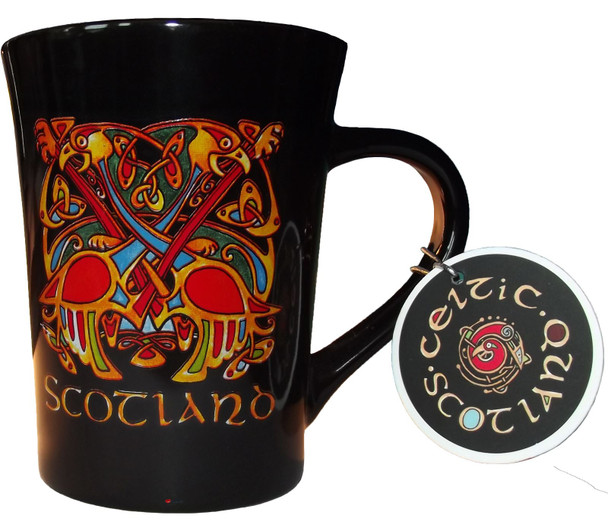 Black Tea and Coffee Mug with Traditional Celtic Design Perfect for Your Kitchen