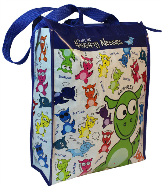 Naughty Nessies PVC Plastic Water Resistant Shopper Bag Loch Ness Mascot