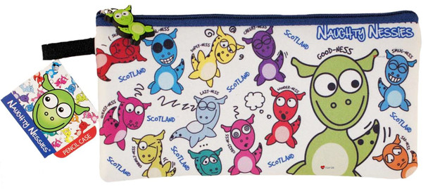 Scottish Naughty Nessies Pencil Case Pen School Work PVC Fun Gift Novelty Case