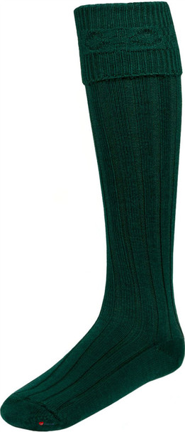 Mens Bottle Green Kilt Hose Socks
