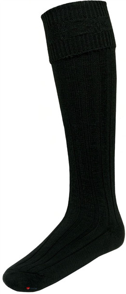 Mens Black Kilt Hose Socks