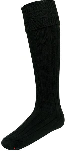 Black Kilt Hose Socks