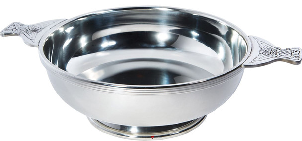 "Quaich Scottish Pewter 350mm 13"" Giant  Centre Piece Bowl Ideal Trophy Gift Engravable For Personalisation"