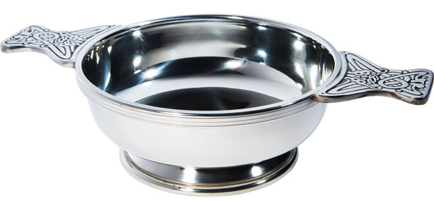 Quaich Scottish Pewter Extra Large Plus Size 180mm Tasting Bowl Ideal Christening Gift