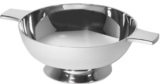 """Silver Plated Scottish 3"""" Quaich Plain Handle Cup of Friendship Ideal Wedding Gift Engravable"""